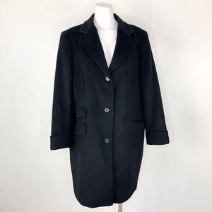 LAUREN Ralph Lauren | Long Wool Coat Black